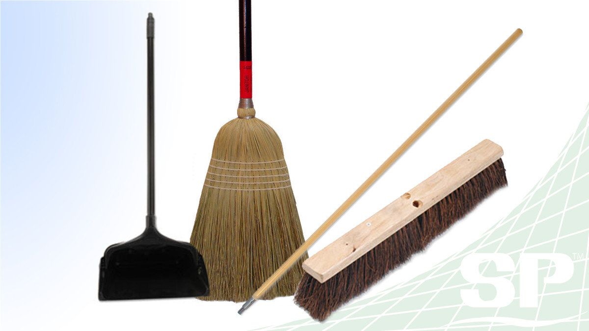 Brooms,Brushes, Broom Handles, and Dust Pans